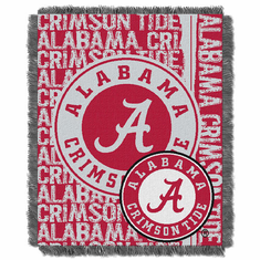 Alabama Crimson Tide Double Play Jacquard Throw