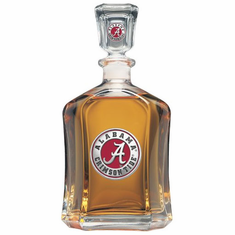 Alabama Crimson Tide Glass Decanter