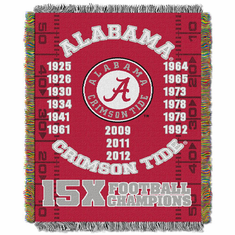 Alabama Crimson Tide National Championship Commemorative Woven Tapestry Throw
