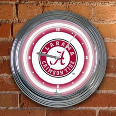 Alabama Crimson Tide Neon Clock - BACKORDERED