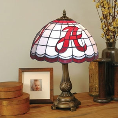Alabama Crimson Tide Stained Glass Table Lamp