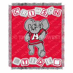 Alabama Crimson Tide Triple Woven Jacquard Baby Throw - BACKORDERED