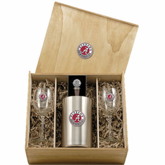 Alabama Crimson Tide Wine Set Box