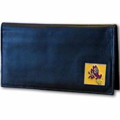 Arizona State Leather Checkbook Cover - BACKORDERED