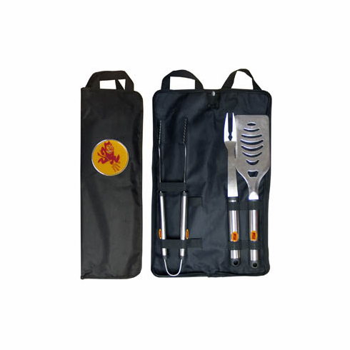 Arizona State Sun Devils 3pc Stainless Steel BBQ Set w/ Bag - BACKORDERED