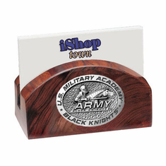 Army Black Knights Ironwood Business Card Holder