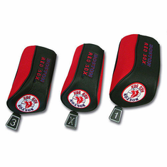 Boston Red Sox Mesh Barrel Headcovers (Set of 3) - BACKORDERED
