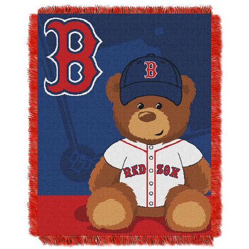 Boston Red Sox Triple Woven Jacquard  Baby Throw