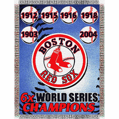 Boston Red Sox World Series Woven Tapestry Throw