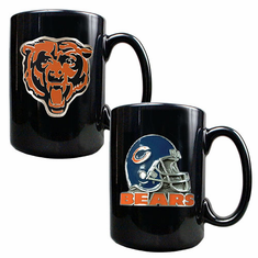 Chicago Bears 2pc Coffee Mug Set - BACKORDERED