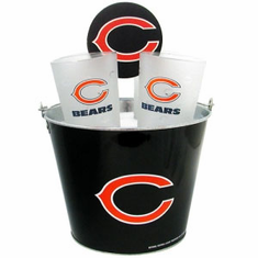 Chicago Bears Metal Bucket, Frost Resist Pint Glass & Coaster Set - BACKORDERED