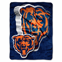 Chicago Bears Royal Plush Raschel Blanket