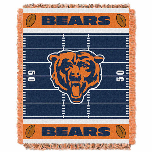 Chicago Bears Triple Woven Jacquard  Baby Throw