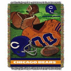 Chicago Bears Triple Woven Vintage Jacquard Throw