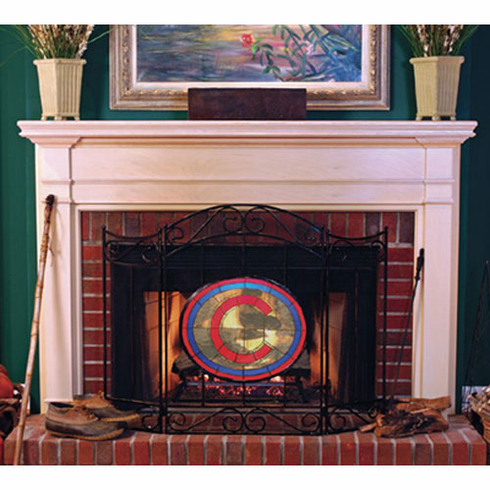 Chicago Cubs Fireplace Screen - BACKORDERED