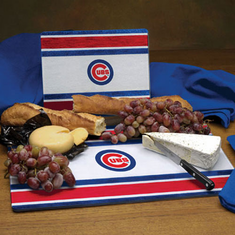 Chicago Cubs Glass Cutting Board Set