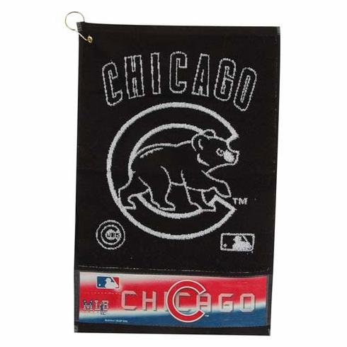 Chicago Cubs Heavyweight Jacquard Golf Towel
