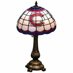 Chicago Cubs Stained Glass Table Lamp