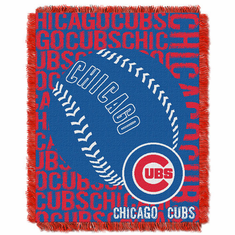 Chicago Cubs Triple Woven Double Play Jacquard Throw