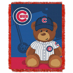 Chicago Cubs Triple Woven Jacquard Baby Throw