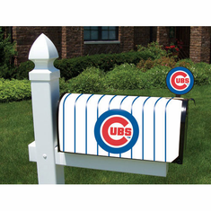 Chicago Cubs Vinyl Mailbox Cover - BACKORDERED