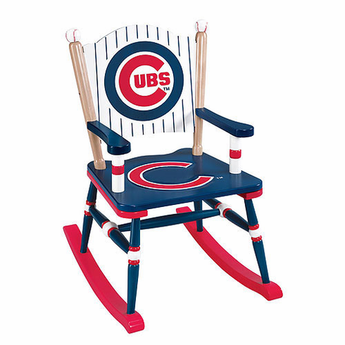 Chicago Cubs Wooden Rocking Chair