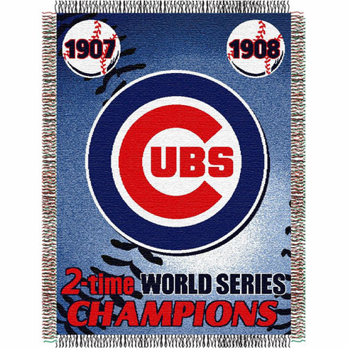 Chicago Cubs World Series Commemorative Woven Tapestry Throw