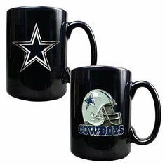 Dallas Cowboys 2pc Coffee Mug Set - BACKORDERED