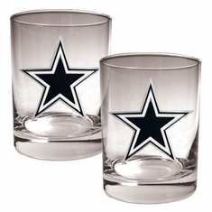 Dallas Cowboys 2pc Rocks Glass Set - BACKORDERED