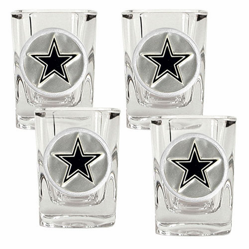 Dallas Cowboys 4pc Square Shot Glass Set