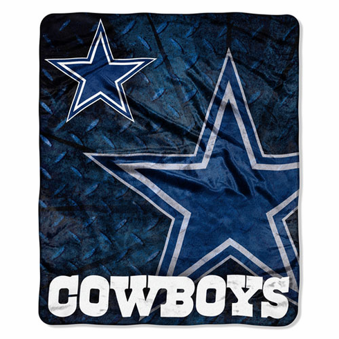 Dallas Cowboys Royal Plush Raschel Blanket