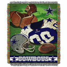 Dallas Cowboys Triple Woven Vintage Jacquard Throw