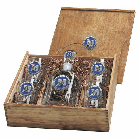Duke Blue Devils Capital Decanter Box Set