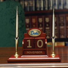 Duke Blue Devils Perpetual Calendar Desk Caddy - BACKORDERED