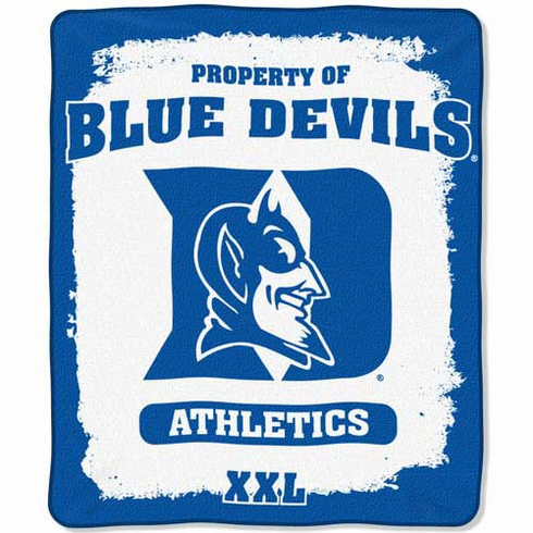 Duke Blue Devils Property of Raschel Blanket - BACKORDERED