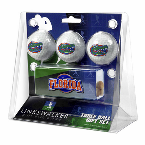Florida Gators 3 Golf Ball Gift Pack w/ Hat Clip