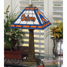 Florida Gators Stained Glass Mission Style Lamp - BACKORDERED