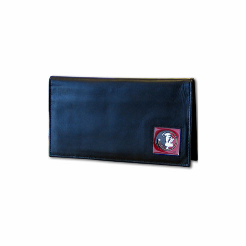 Florida State Leather Checkbook Cover