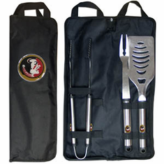 Florida State Seminolels 3pc Stainless Steel BBQ Set w/ Bag - BACKORDERED