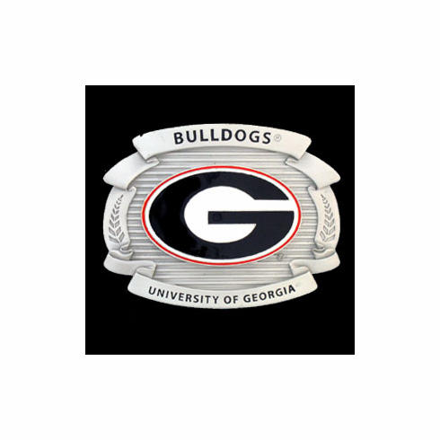 Georgia Bulldog Oversized Belt Buckle