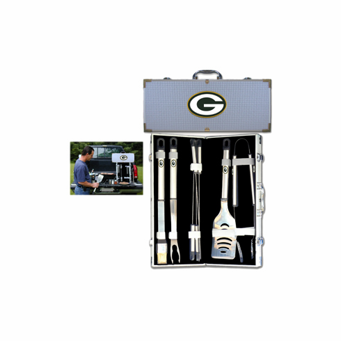 Green Bay Packers 8pc BBQ Set - BACKORDERED