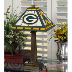Green Bay Packers Stained Glass Mission Style Lamp