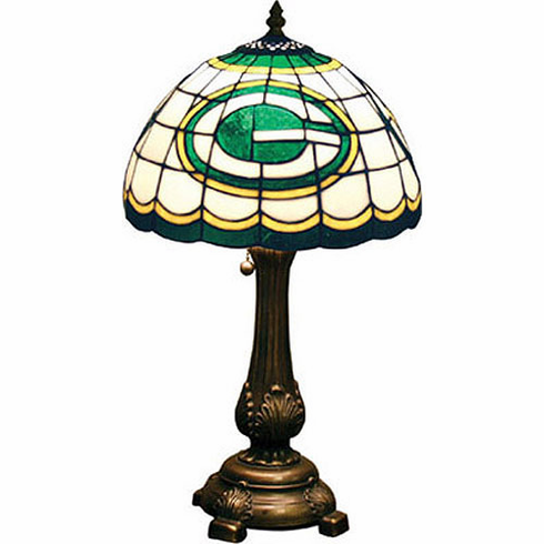 Green Bay Packers Stained Glass Table Lamp - BACKORDERED