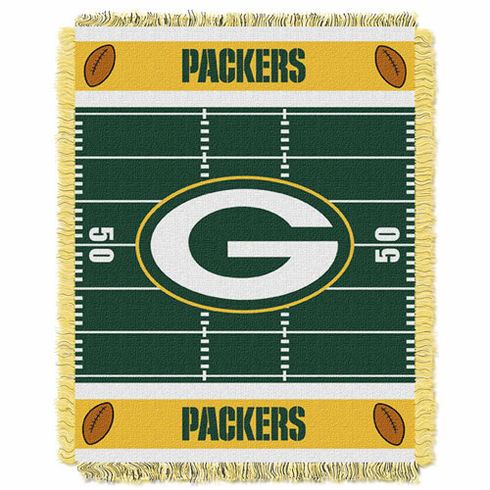 Green Bay Packers Triple Woven Jacquard  Baby Throw