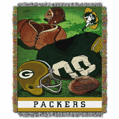 Green Bay Packers Triple Woven Jacquard Vintage Series Throw
