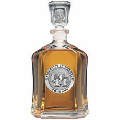 Houston Cougars Glass Capital Decanter