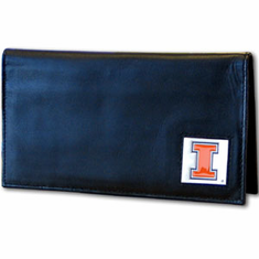 Illinois Leather Checkbook Cover