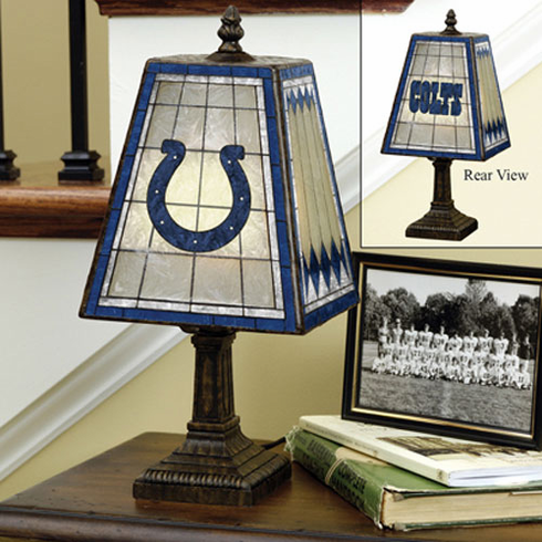 Indianapolis Colts Art Glass Table Lamp