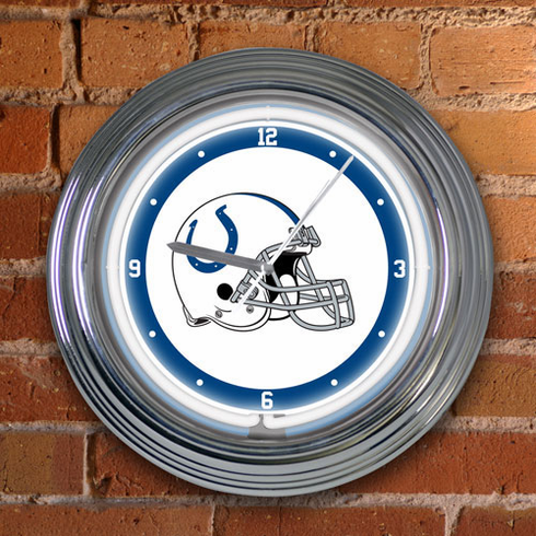 Indianapolis Colts Neon Clock - BACKORDERED