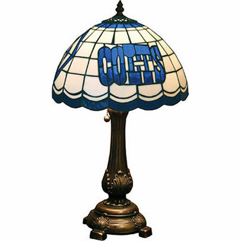 Indianapolis Colts Stained Glass Table Lamp